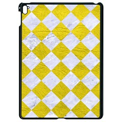 Square2 White Marble & Yellow Leather Apple Ipad Pro 9 7   Black Seamless Case by trendistuff