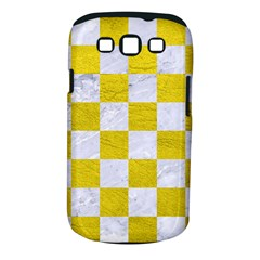 Square1 White Marble & Yellow Leather Samsung Galaxy S Iii Classic Hardshell Case (pc+silicone) by trendistuff