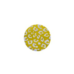 Skin5 White Marble & Yellow Leather (r) 1  Mini Buttons by trendistuff