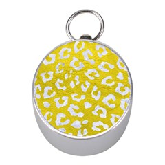 Skin5 White Marble & Yellow Leather (r) Mini Silver Compasses by trendistuff