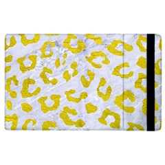 Skin5 White Marble & Yellow Leather Apple Ipad 2 Flip Case by trendistuff