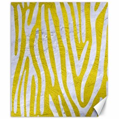 Skin4 White Marble & Yellow Leather (r) Canvas 20  X 24   by trendistuff