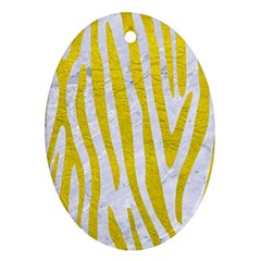Skin4 White Marble & Yellow Leatherskin4 White Marble & Yellow Leather Ornament (oval) by trendistuff