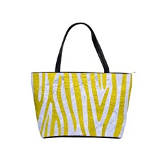 Skin4 White Marble & Yellow Leatherskin4 White Marble & Yellow Leather Shoulder Handbags