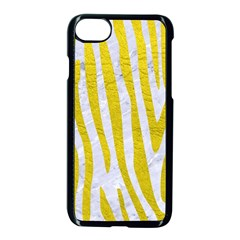 Skin4 White Marble & Yellow Leatherskin4 White Marble & Yellow Leather Apple Iphone 7 Seamless Case (black) by trendistuff