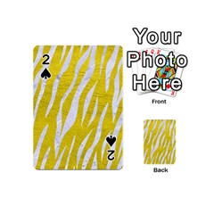 Skin3 White Marble & Yellow Leather Playing Cards 54 (mini)  by trendistuff