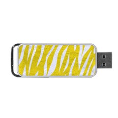 Skin3 White Marble & Yellow Leather Portable Usb Flash (two Sides) by trendistuff