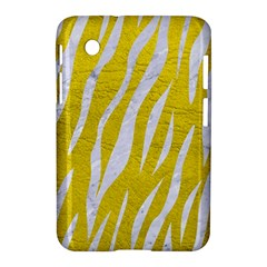 Skin3 White Marble & Yellow Leather Samsung Galaxy Tab 2 (7 ) P3100 Hardshell Case  by trendistuff
