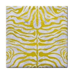 Skin2 White Marble & Yellow Leather (r) Face Towel by trendistuff
