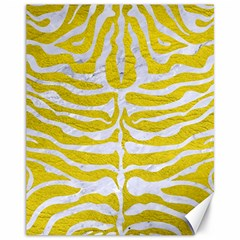 Skin2 White Marble & Yellow Leather Canvas 11  X 14