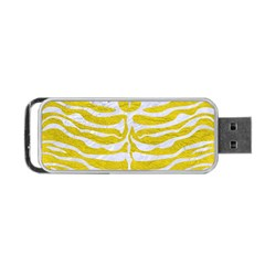Skin2 White Marble & Yellow Leather Portable Usb Flash (two Sides) by trendistuff