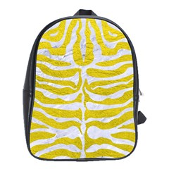 Skin2 White Marble & Yellow Leather School Bag (xl) by trendistuff