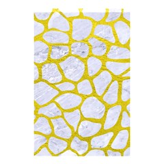Skin1 White Marble & Yellow Leather Shower Curtain 48  X 72  (small)  by trendistuff