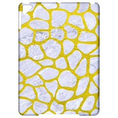 Skin1 White Marble & Yellow Leather Apple Ipad Pro 9 7   Hardshell Case by trendistuff