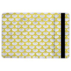 Scales3 White Marble & Yellow Leather (r) Ipad Air 2 Flip by trendistuff