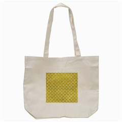Scales3 White Marble & Yellow Leather Tote Bag (cream) by trendistuff