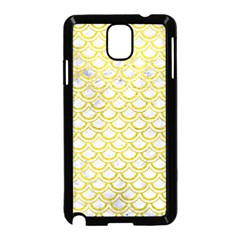 Scales2 White Marble & Yellow Leather (r) Samsung Galaxy Note 3 Neo Hardshell Case (black) by trendistuff