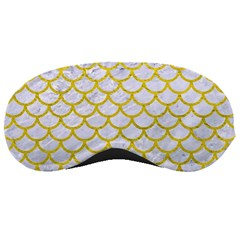Scales1 White Marble & Yellow Leather (r) Sleeping Masks by trendistuff