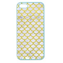 Scales1 White Marble & Yellow Leather (r) Apple Seamless Iphone 5 Case (color) by trendistuff