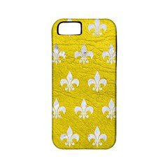 Royal1 White Marble & Yellow Leather (r) Apple Iphone 5 Classic Hardshell Case (pc+silicone) by trendistuff