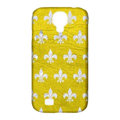 Royal1 White Marble & Yellow Leather (r) Samsung Galaxy S4 Classic Hardshell Case (pc+silicone) by trendistuff