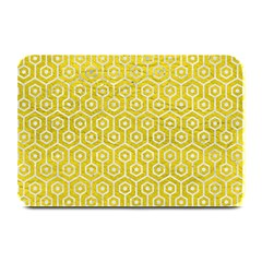 Hexagon1 White Marble & Yellow Leather Plate Mats by trendistuff