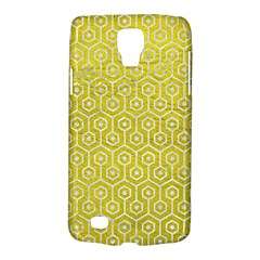 Hexagon1 White Marble & Yellow Leather Galaxy S4 Active by trendistuff
