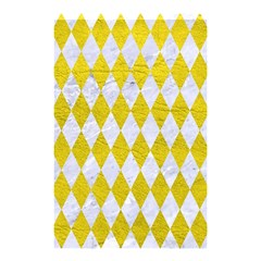Diamond1 White Marble & Yellow Leather Shower Curtain 48  X 72  (small)  by trendistuff