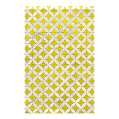 Circles3 White Marble & Yellow Leather Shower Curtain 48  X 72  (small)  by trendistuff