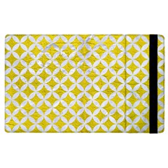 Circles3 White Marble & Yellow Leather Apple Ipad 3/4 Flip Case by trendistuff