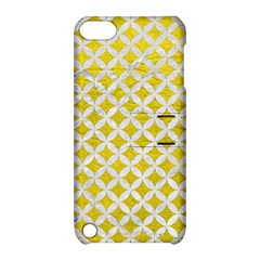 Circles3 White Marble & Yellow Leather Apple Ipod Touch 5 Hardshell Case With Stand by trendistuff