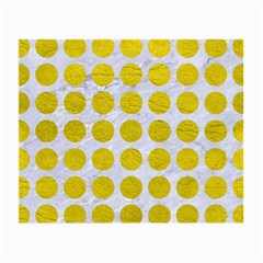 Circles1 White Marble & Yellow Leather (r) Small Glasses Cloth by trendistuff