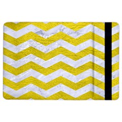 Chevron3 White Marble & Yellow Leather Ipad Air 2 Flip by trendistuff