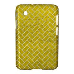 Brick2 White Marble & Yellow Leather Samsung Galaxy Tab 2 (7 ) P3100 Hardshell Case  by trendistuff
