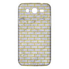 Brick1 White Marble & Yellow Leather (r) Samsung Galaxy Mega 5 8 I9152 Hardshell Case  by trendistuff
