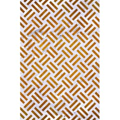 Woven2 White Marble & Yellow Grunge (r) 5 5  X 8 5  Notebooks by trendistuff