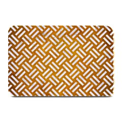 Woven2 White Marble & Yellow Grunge Plate Mats by trendistuff