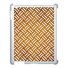 Woven2 White Marble & Yellow Grunge Apple Ipad 3/4 Case (white) by trendistuff