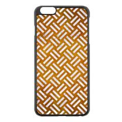 Woven2 White Marble & Yellow Grunge Apple Iphone 6 Plus/6s Plus Black Enamel Case by trendistuff