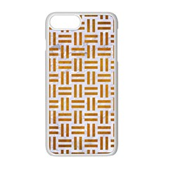 Woven1 White Marble & Yellow Grunge (r) Apple Iphone 8 Plus Seamless Case (white) by trendistuff