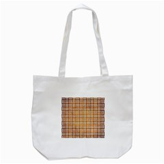Woven1 White Marble & Yellow Grunge Tote Bag (white) by trendistuff
