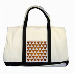 Triangle3 White Marble & Yellow Grunge Two Tone Tote Bag by trendistuff