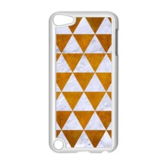 Triangle3 White Marble & Yellow Grunge Apple Ipod Touch 5 Case (white) by trendistuff