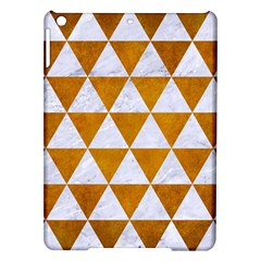 Triangle3 White Marble & Yellow Grunge Ipad Air Hardshell Cases by trendistuff