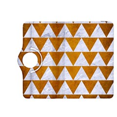 Triangle2 White Marble & Yellow Grunge Kindle Fire Hdx 8 9  Flip 360 Case by trendistuff