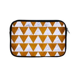 Triangle2 White Marble & Yellow Grunge Apple Macbook Pro 13  Zipper Case by trendistuff