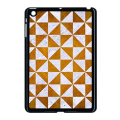 Triangle1 White Marble & Yellow Grunge Apple Ipad Mini Case (black) by trendistuff