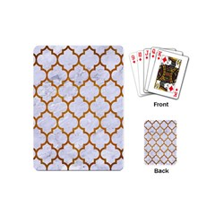 Tile1 White Marble & Yellow Grunge (r) Playing Cards (mini)  by trendistuff