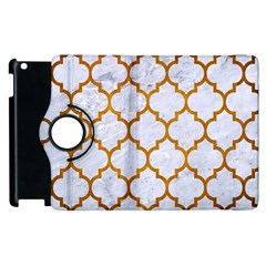 Tile1 White Marble & Yellow Grunge (r) Apple Ipad 2 Flip 360 Case by trendistuff