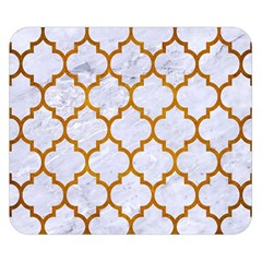 Tile1 White Marble & Yellow Grunge (r) Double Sided Flano Blanket (small)  by trendistuff